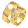 Złote obrączki puzel, soczewka - pr. 585