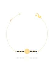 Złota bransoletka celabrytka z kółkiem - pr. 585