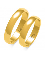 Złote obrączki klasyczne półokrągłe 4mm - pr.585