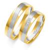 Złote obrączki z białym złotem - pr.585