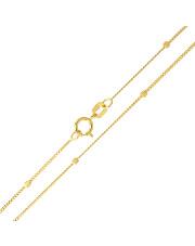 Złoty łańcuszek Pancerka z kostkami 50cm - pr.585