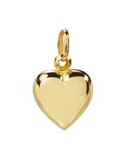 Złota zawieszka pełne serce - pr. 585