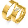 Złote obrączki ślubne, 6 mm - pr.585