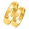 Złote obrączki zdobione - pr.585
