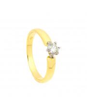 Złoty pierścionek zaręczynowy z brylantem - pr. 585