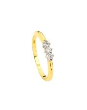 Złoty pierścionek zaręczynowy z Brylantem -pr.585