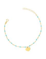 Złota bransoletka celebrytka z sercem - pr.585