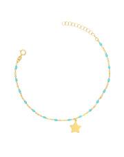 Złota bransoletka celebrytka z gwiazdką - pr.585