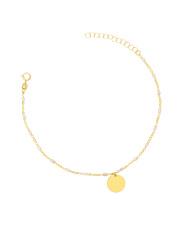 Złota bransoletka celebrytka z kółkiem- pr. 585