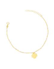 Złota bransoletka celebrytka z koniczynką- pr. 585