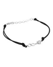 Srebrna bransoletka na sznurku serce i nieskończoność - pr.925