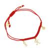 Pozłacana bransoletka na sznurku koniczynka, nieskończoność ,ltera K - pr. 925