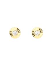 Złote kolczyki kółka z cyrkonią - pr.585