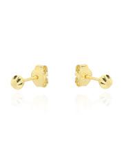 -10% Złote kolczyki diamentowane kulki - pr.585