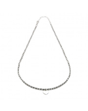 Srebrny naszyjnik z sercem - pr. 925