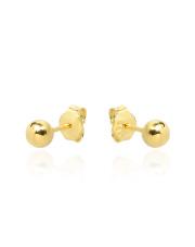 Złote kolczyki kulki - pr.585