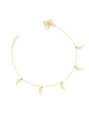 Złota bransoletka celebrytka skrzydło anioła - pr.585