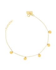 Złota bransoletka celebrytka kółka - pr.585