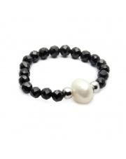 Srebrny pierścionek z perłą - pr.925