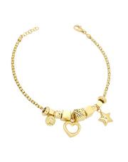 Złota bransoletka z zawieszkami - pr.585