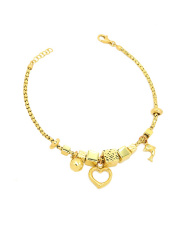 Złota bransoletka z zawieszkami - pr 585