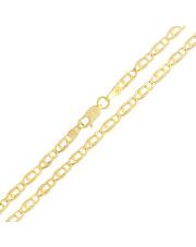 Złoty łańcuszek Pawie Oko 55 cm - pr.585