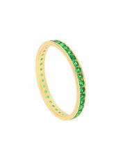 Złoty pierścionek z zielonymi cyrkoniami - pr.585