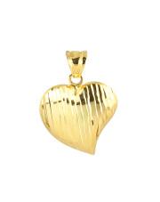 Złota zawieszka serce - diamentowana pr. 585