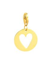 Złota zawieszka Charms w kształcie serca pr. 585