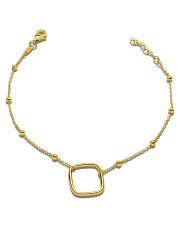 Złota bransoletka z rombem - pr.585