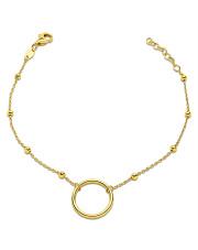 Złota bransoletka z kółkiem - pr.585