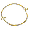 Złota bransoletka z krzyżykiem - pr.585