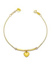 Złota bransoletka dwa serca - pr. 585