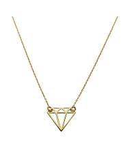 Złoty łańcuszek z motywem ażurowego diamentu - pr. 585