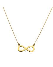 Złoty łańcuszek celebrytka z symbolem nieskończoności - pr. 585
