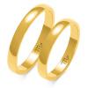 Złote obrączki klasyczne półokrągłe 3mm- pr.585
