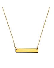 Złoty łańcuszek-celebrytka z blaszką - pr. 585