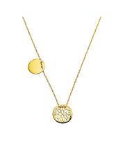 Złoty naszyjnik-celebrytka dwa koła pr. 585