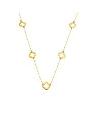 Złoty naszyjnik-celebrytka z koniczynkami - pr. 585