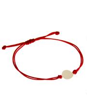 Złota bransoletka na sznurku z kółkiem - pr. 585