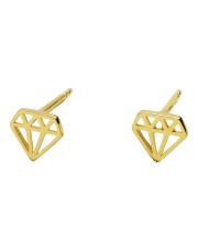 Złote kolczyki sztyft diament - pr. 585
