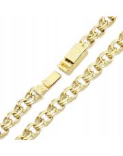 Złota bransoleta długość 19cm - splot garibaldi - pr.585