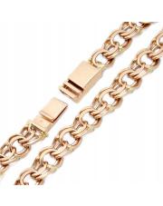 Złota bransoleta długość 22,5cm - splot garibaldi - pr.585