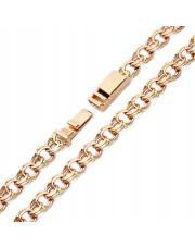 Złota bransoleta długość 21,5cm - splot garibaldi - pr.585