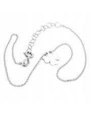 Srebrna bransoletka na kostkę z koniczynką - pr. 925