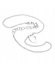Srebrna bransoletka na kostkę z motywem serca- pr. 925