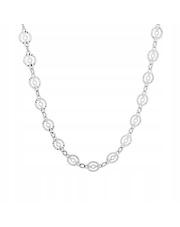 Srebrny naszyjnik - splot ażurowe KÓŁKA 45 cm - pr. 925