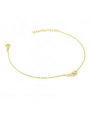 Złota bransoletka celebrytka ze skrzydłem - pr. 585
