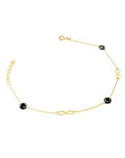 Złota bransoletka celebrytka z symbolem nieskończoności - pr. 585