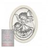 Srebrny obrazek Anioł Stróż z latarenką na chrzest